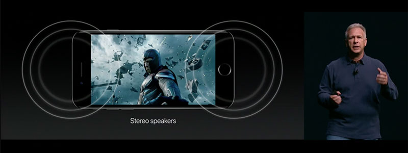 am thanh iphone 7 stereo speakers