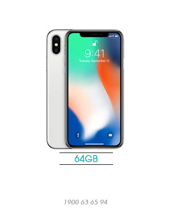 iPhone-X-64GB-silver-new-100%-asmart-da-nang