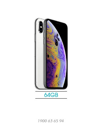 iPhone-XS-64GB-silver-new-100%-asmart-da-nang