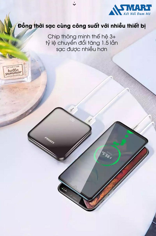 sac-du-phong-pisen-led-mirror-10000mah-dong-thoi-sac-nhieu-thiet-bi-asmart