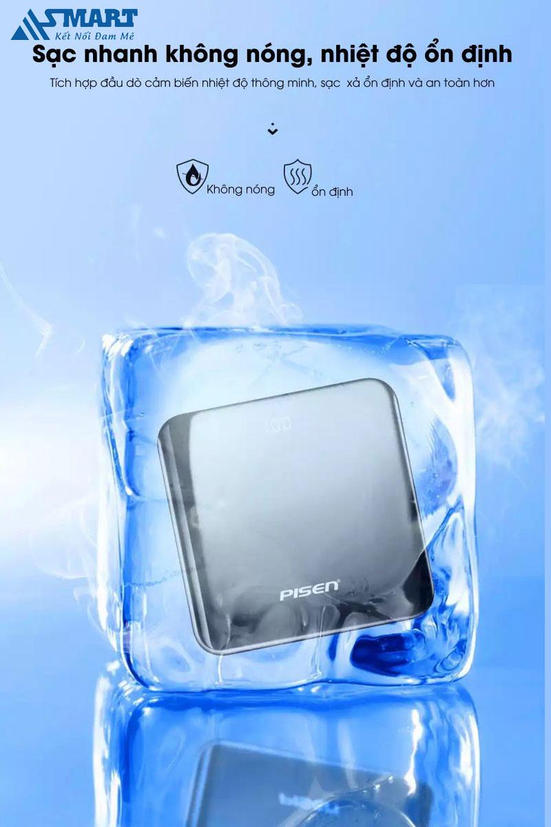 sac-du-phong-pisen-led-mirror-10000mah-sac-nhanh-khong-nong-asmart